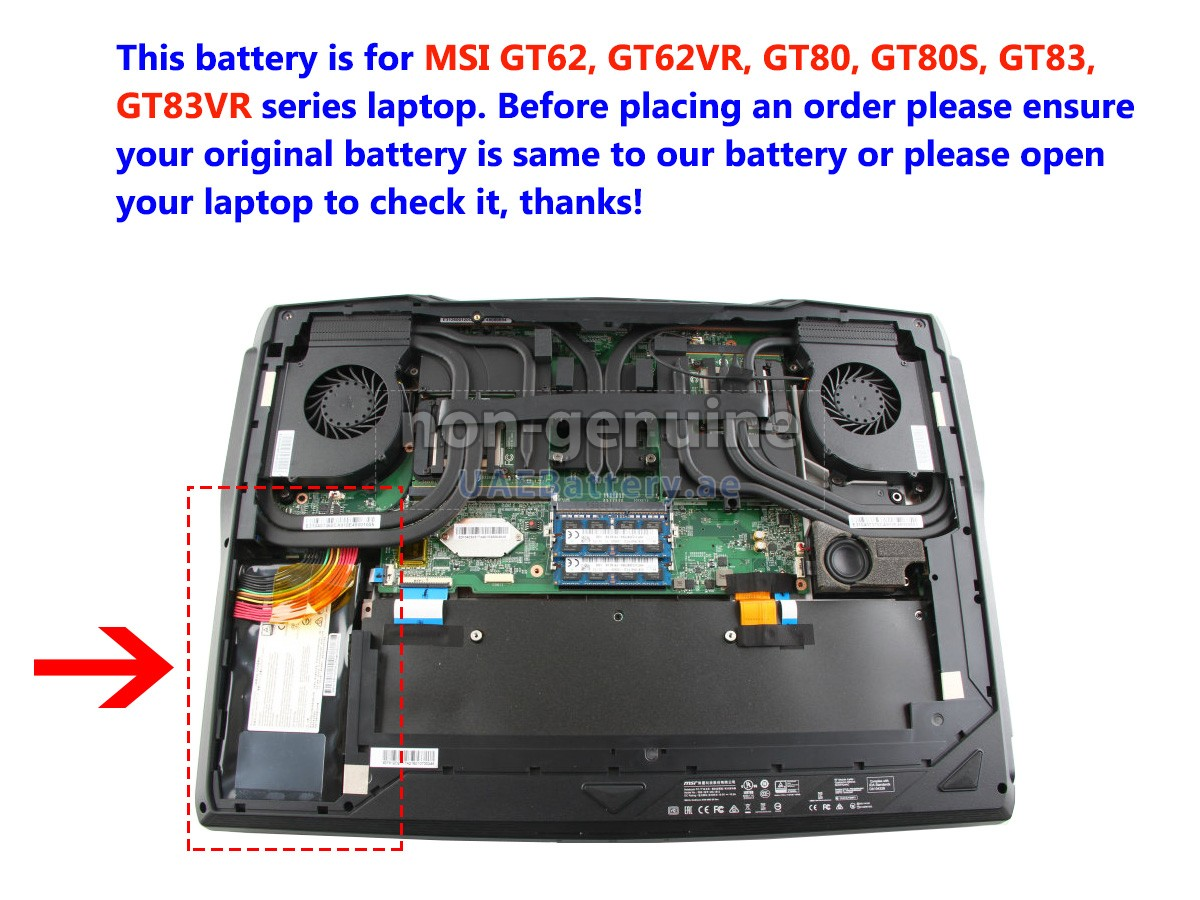 Msi Gt73evr 7re Titan Replacement Battery Uaebattery